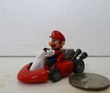 "Official NINTENDO YUJIN MARIO KART ""Mario"" PULL BACK ACTION PLASTIC CAR 2008"