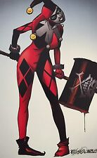 MICHAEL GOLDEN rare HARLEY QUINN print SIGNED 11x17 commission BATMAN image