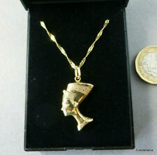 Vintage 9ct Gold NEFERTITI Pendant with 9ct Gold Chain - Total Weight 3.5 Grams
