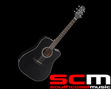 RRP$569 Takamine ED2DCBLK Dreadnought Acoustic-Electric Guitar With Pickup Black