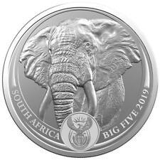 Südafrika - 5 Rand 2019 - Big Five Serie (1.) - Elefant - 1 Oz Silber ST