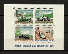 (YYAT 0243) Berlin 1971 MNH Mich Block 3 Scott 9N315 Germany race cars