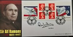 ALF RAMSEY ENGLAND 1966 WORLD CUP FDC RAY WILSON Signed EVERTON AUTOGRAPHED