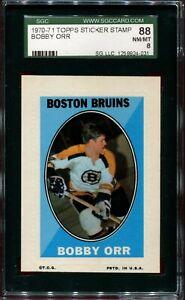 1970-71 Topps Hockey Stamp Bobby Orr SGC 88 NM-MT 8 NICE! LOOK!