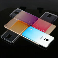 For Samsung Galaxy Note 3 Note 4 Note5 Ultra Thin Clear Gradient TPU Case cover