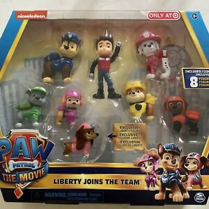 Paw Patrol The Movie - 8 Exclusive Figures Including Liberty Joins The Team NEW