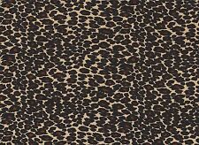 Luxurious Leopard Print Stretch Velour Fabric
