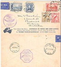 AUSTRALIA 1934 AIRMAIL TO PAPUA & NEW-GUINEA COVER (JF)
