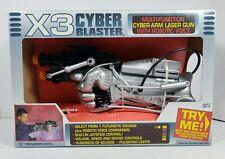 X3 Cyber Blaster Toy Cyber-Arm Laser Gun w/Robotic Voice 1992 Trendmasters