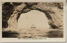 Prai L'arcade du Rocher Perce PQ Quebec Real Photo Unused - VG