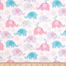 Child's Play Elephants Pastel Half Yard 45cm x 110cm Cotton 100%