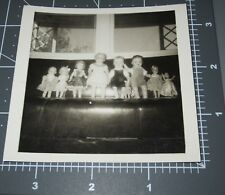 Weird DOLL s in a Row TOYS Creepy READ BACK Scary Porcelain China Vintage PHOTO