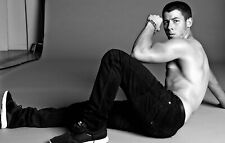 A Nick Jonas Black And White 8x10 Picture Celebrity Print