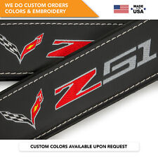 Seat Belt Covers Shoulder Strap Pads Custom Fits Corvette C7 Stingray Z51 2Pcs