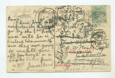 India, 1910 picture postcard, many postmarks