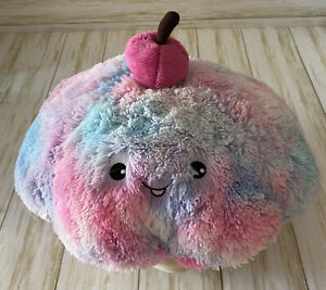 """Snugglemi Squishable 15"""" Cotton Candy Smiling Cupcake Comfort Food Plush Toy"""