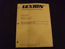 Cat Caterpillar Lexion Flex Kopf 17' - 30' Teile Buch Handbuch