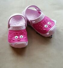Crocs Girls Blow Fish Shoes Clogs Bubblegum Pink 6/7 free shipping