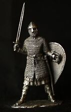 Medieval Norman Knight Tin Toy soldier 54 mm., figurine, metal sculpture.
