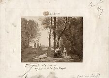 "COROT (Artist): ""Le Concert"" - Annotated Trial Proof"
