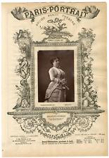 Lemercier, Paris-Portrait, Adélaïde-Zélia Provost-Ponsin (1843-1885), actrice Vi