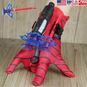 Spider-Man Web Shooter Dart Blaster Launcher Toy + Spiderman Costume Gloves GIFT