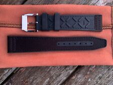 Genuine OEM IWC Rubber/Textile Watch Strap with Pin Buckle