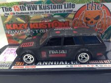 Datsun Bluebird 510 Wagon Kazy Kustom '16 HOT WHEELS 1 of 2 Black