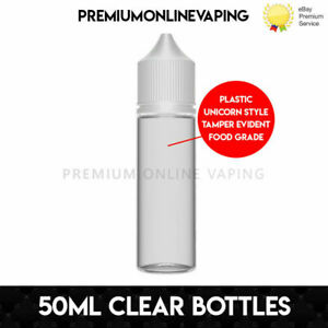 60ml Clear Plastic Bottles With Pipettes + Caps