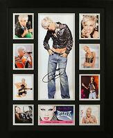 Pink Limited Edition Framed Signed Memorabilia