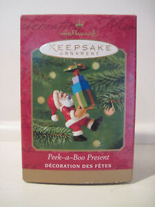 Peek-a-Boo Present, Hallmark ornament, 2001