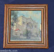 MINIATURE OIL ON CANVAS BY MARTIN ČECHUN VILNIUS 2003 SIGNED
