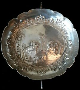 ANTIQUE AUGSBURG 1700'S SILVER SIGNED DISH / BOWL