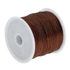 60M Hair Weave Sew Decor Sewing Thread for Hair Wigs Hair Extension Brown