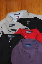 Lot of 6~Men's Size L~Polo Ralph Lauren~Tommy Bahama~Hilfiger~Polo Shirts~Silk~~
