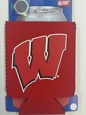 NCAA Wisconsin Badgers Can Cooler, Coozie, Koozie, NEW (Set of 2)
