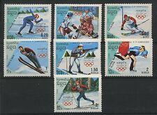 (W0887) CAMBODIA 1988, OLYMPIC WINTER GAMES, MI 911/17, SET, MNH/UM, SEE SCAN