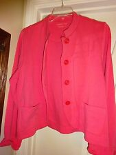Coldwater Creek Pink Large Button Front Long Sleeve Sweater Jacket NEW
