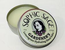 Sophic Sage 4oz Gardener's Lemongrass Hydrating Hand Balm Sticky Resin Remover