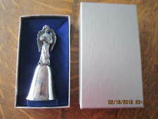 New England Collector's Society Silverplate ANGEL Bell  Mint in Box!