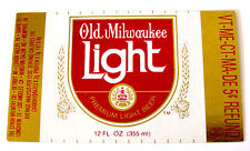 Stroh Brewery OLD MILWAUKEE LIGHT  beer small label MI 12oz CRVs