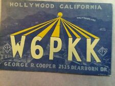 New listing Hollywood- Dearborn Drive- George R. Cooper- W6Pkk- 1938- Qsl