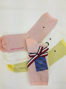 Tommy hilfiger socks women 3 PAIRS GIFT PACK SPARLE CREW SOCKS SIZE UK 6-8