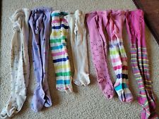Lot of 7 tights sizes 2-4 3-4 mostly Children's Place