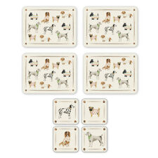 Cooksmart New Best In Show Placemats and Coasters Fun Animals Pets Table Mats