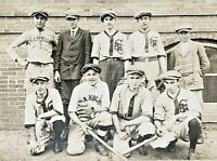 ORIGINAL - CRANBURY NEW JERSEY BOYS BASEBALL TEAM - CABINET PHOTO c1909