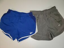 "2 Nike Dri-Fit Running Athletic Exercise Shorts Gray Blue 3"" Xs S"