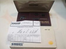SHURE VST III ULTRA GROUP CLASSIC CART AND GENUINE SHURE VNSE3HE STYLUS IN CASE