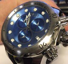 New Invicta 6114 Venom Swiss Made Ice Blue Dial 52mm Black Strap Watch