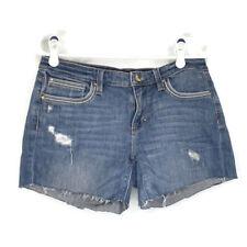 White House Black Market WHBM Girlfriend Distressed Denim Blue Jean Shorts 4